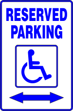 Handicap SIgns Disabled Parking with arrows